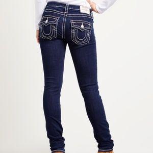 TRUE RELIGION Naturaline Big T Skinny Jeans